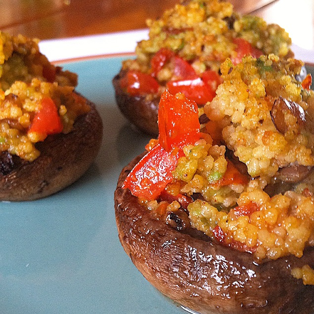 These Avocado Couscous Stuffed Mushrooms are only made with a few ingredients and are quick to make! these are perfect as an appetizer or lunch/dinner! no matter how you eat them, you will LOVE them!