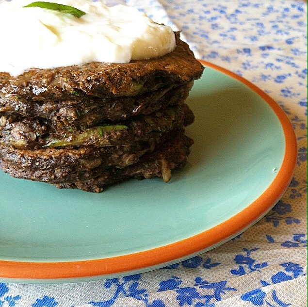 These Chocolate Peppermint Zucchini Pancakes will become your new favorite pancakes! Not only are they gluten-free, vegan, and have hidden veggies, but they are full of chocolate peppermint deliciousness!
