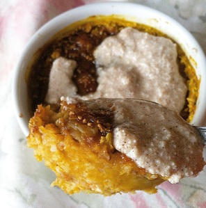This healthy Cinnamon Pumpkin Oatmeal Brûlée is a nice change from regular oatmeal and tastes like dessert for breakfast!!!