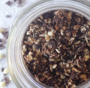 This Healthy Triple Chocolate Granola will make you want to get out of bed in the morning! Believe it or not, its actually very healthy!!